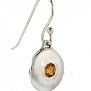 Cast Silver and Citrine Earrin...