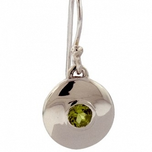Cast Silver and Peridot Earrin...