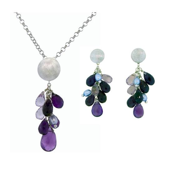 Amethyst and Pearl Set