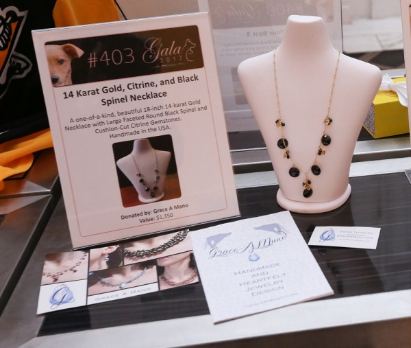 Grace A Mano Necklace Auctioned At North Shore Animal League Gala